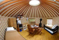 Coolest places to go glamping in Canada #yurt #monttremblant #quebec