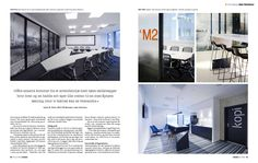 We got several spreads in the Norwegian magazine - Lokaler - A story about Aker Solutions offices in Stavanger Norway, interior by Scenario interiørarkitekter MNIL Stavanger Norway, Spreads, Offices, Magazine, Interior, Indoor, Magazines, Interiors, Desk
