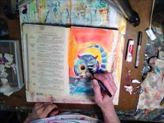 Suzi Dennis---Art Journal---great video