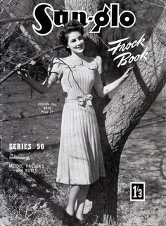 vintage knitting pattern images - sun glo frock book