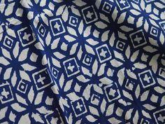 Block Printed Indigo Blue Cotton Fabric Geometric Pattern Organic Indigo and White Printed Cotton Fabric by Yard Online Soft Cotton fabric Hand Printed Fabric, Printed Cotton, Printing On Fabric, Brocade Fabric, Cotton Fabric, Cotton Silk, Indigo Plant, Light Blue Flowers, Fabric Patterns