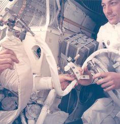 "Astronaut John Swigert with ""Mailbox"""