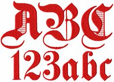 Gothic #2 machine embroidery designs alphabet