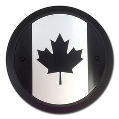Canadian Flag Maple Leaf Black Derby Cover for Victory Motorcycles. Fits on the left side primary cover. Made in USA by Barracuda Custom Accessories.