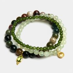 Armband Set Grounding Tranquility von Satya Jewelry.
