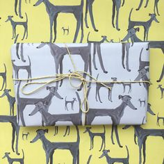 Dog wrapping paper greyhound wrapping paper dog gift wrap