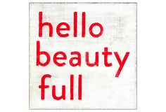 One Kings Lane - Sugarboo - Hello Beauty Full 12x12