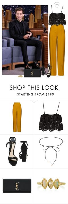 """""""Fallon - 19 July 2017"""" by thisistheend ❤ liked on Polyvore featuring ADAM, Miguelina, Alexandre Birman, Lilou, Yves Saint Laurent and BROOKE GREGSON"""