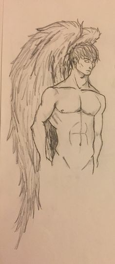 Angel drawing pencil