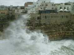 170 mare in tempesta da lama monachile, Polignano a mare, Bari, Puglia, foto di leoci francesco michele