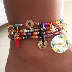 No photo description available. Anklet Jewelry, Hippie Jewelry, Cute Jewelry, Anklets, Diy Jewelry, Beaded Jewelry, Jewelery, Jewelry Accessories, Women Jewelry