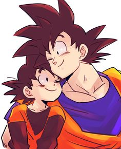 Goku and Goten - Visit now for 3D Dragon Ball Z shirts now on sale!