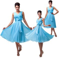 2014 New Sexy Short Mini Ball Gown Chiffon Party Cocktail Bridesmaid Prom dress #GraceKarin #BallGown #Formal