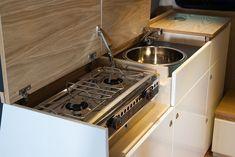 T5 Kitchen Pod – Dubteriors Quality VW Camper Interiors Vw Lt Camper, Mercedes Vito Camper, Sprinter Camper, Camper Life, Camper Trailers, Land Rover Defender, Bulkhead Kitchen, T3 Vw, Vw T5