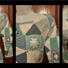Vintage.  Crochet Knit, Pullover.  Great w/ Jeans In Great Condition   See 2nd Listing for More Pics real comfort Sweaters