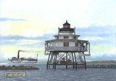 Mathias Point Light, VA. - 1886  (Potomac River)