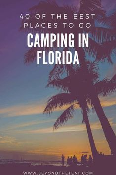 Camping in Florida offers incredible beaches beautiful lakes primitive camping upscale glamping endless RV sports tourism destinations shopping and much more. Here are our picks for the 40 best places to go camping in Florida. Camping World, Camping Life, Family Camping, Rv Camping, Outdoor Camping, Glamping, Yosemite Camping, Camping Chairs, Stealth Camping