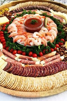 Try this Epic Shrimp Cocktail Charcuterie Board for Christmas or New Year gatherings! Try this Epic Shrimp Cocktail Charcuterie Board for Christmas or New Year gatherings! Plateau Charcuterie, Charcuterie And Cheese Board, Charcuterie Platter, Cheese Boards, Party Food Platters, Food Trays, Cheese Platters, Party Trays, Christmas Appetizers