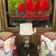 #art #allisonpadams #red #painting #art #southernliving www.allisonpadams.com