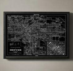 Old Road Map of Denver. Perfect for the apartment!