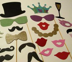 Mardi Gras Photo Booth Props 24pc Photobooth by PimpYourParty