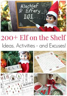 200+ Elf on the Shelf Ideas, Activities and Excuses! Elf on the Shelf Christmas inspiration to last you several years without ever repeating a trick! The best Elf on the Shelf tricks and hacks| Christmas