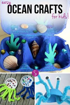 We have some wonderful books that your children will enjoy reading and exploring, and then a fabulous collection of easy ocean crafts for kids to bring it all to life!