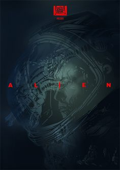 In space no one can hear you scream.Finished ALIEN poster.
