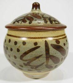 Bernard Leach St Ives Studio pottery preserve pot