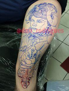 André Rodrigues Tattoo: Marcação com Sumie na Tatuagem (Neo Traditional)