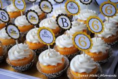 Boys & Girl A Knights Tail Birthday Party - Cupcakes with Adorable Themed Toppers
