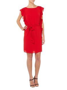 MICHAEL Michael Kors Kleid mit Volantsärmeln in Rot - 1