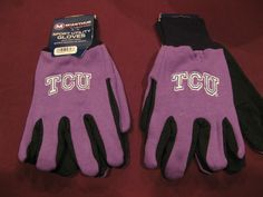 TWO (2) PAIRS OF TCU HORNED FROGS, ALL PURPOSE SPORT UTILITY GLOVES #TCUHornedFrogs