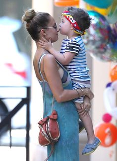 Nicole Richie having quality time with her little one.