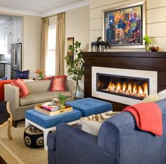 Fireplace, Furniture Placement