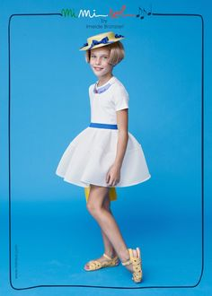 Go Azzurri! #mimisol #imeldebronzieri #FWC14 #italy #lightblue #dress #fashion #children #SS14