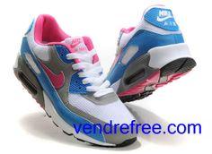 newest 8bc29 cdfa9 Vendre Pas Cher Femme Chaussures Nike Air Max 90 (couleur blanc,bleu,rose, noir) en ligne en France.