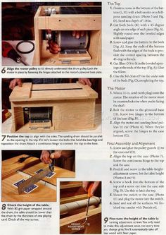 Drum Sander Plans - Sanding Tips, Jigs and Techniques - Woodwork, Woodworking, Woodworking Tips, Woodworking Techniques Sanding Tips, Sanding Wood, Woodworking Techniques, Woodworking Tips, Batten, Guide, Drums, How To Plan, Woody