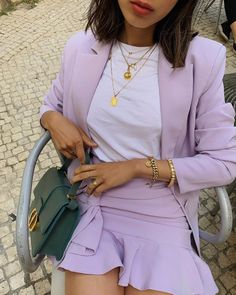 Fashion Casual Spring Style: How To Wear Lilac