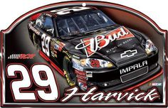"""NASCAR Kevin Harvick #29 Budweiser Wood Sign - 17"""" x 11"""" by WinCraft. $28.99. The Kevin Harvick wood sign features his new #29 Budweiser car along with the RCR logo, his number 29, and the Harvick name. The NASCAR logo also is displayed."""