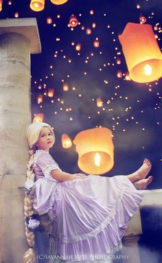 Disney tangled inspired photo shoot Rapunzel