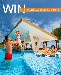 Win a trip to the Generations Riviera Maya, by Karisma – Mexico's premiere all-suite, all-inclusive resort includes: 3 night/4 day stay for 4 people in a 1-bedroom swim-up or infinity pool suite; $500 air credit per person; & transfers to and from the airport