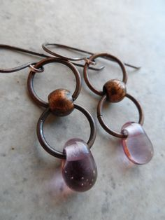 Rose Water Droplets ... Artisan-Made Lampwork Droplets and