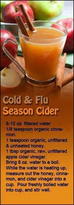 Cold and flu cider