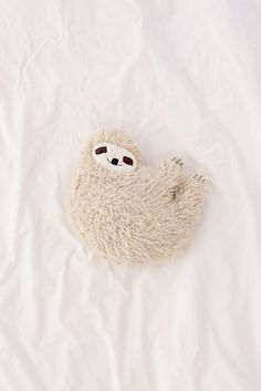 Slide View: 2: Furry Sloth Pillow