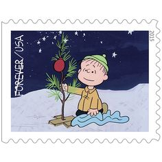 """""""A Charlie Brown Christmas"""" Stamps - USPS Releases Commemorative Holiday Stamps"""