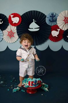 Nautical cake smash