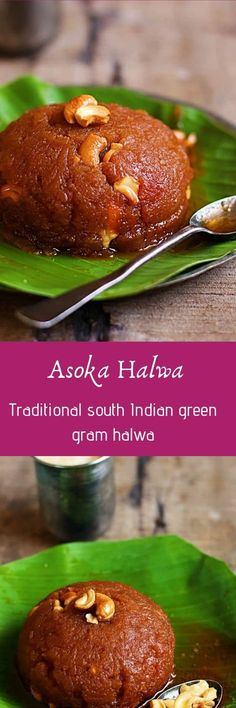 Ashoka halwa recipe with step by step photos. Today in Diwali 2016 sweets recipes series I am sharing the ever popular Tanjore/ thriuvaiyaru style Ashoka halwa recipe. Ashoka halwa recipe is made of moong dal and wheat flour. Indian Dessert Recipes, Indian Sweets, Sweets Recipes, Cooking Recipes, Indian Recipes, Diwali Recipes, Easy Desserts For Kids, Kid Desserts, Holiday Desserts