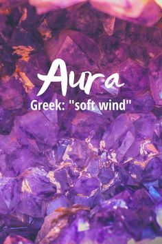 """Aura is a beautiful baby name with a bohemian vibe. In Latin the meaning is """"distinctive atmosphere"""" or """"glowing light"""" and the Greek meaning is """"soft wind"""". Aura would make a cute nickname for Aurora or Aurelia but it is great as a stand alone name too. It was not ranked on the top 1000 list in 2018 so it is definitely a unique name.   #babynames #uniquenames #girlnames Female Fantasy Names, Cool Fantasy Names, Fantasy Character Names, Modern Baby Girl Names, Cute Baby Names, Unique Baby Names, Elegant Words, Unique Words, Greek Meaning"""