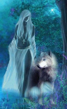Louis Redmon on - wolf - Fantasy Wolf, Fantasy Art Women, Beautiful Fantasy Art, Wolf Photos, Wolf Pictures, Fantasy Creatures, Mythical Creatures, Native American Wolf, Wolves And Women